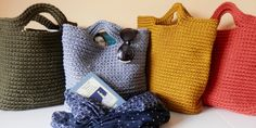 Trendy chunky crochet bag for busy and lovely woman by CozyPieces