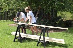 Picture of Cut Your Boards to Length Backyard Hammock, Diy Hammock, Outdoor Hammock, Hammock Frame, Hammock Stand, Backyard Projects, Outdoor Projects, Kids Seesaw, Modern Outdoor Sofas