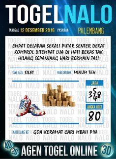 Rumus Lotre 3D Togel Wap Online Live Draw 4D TogelNalo Palembang 12 Desember 2016