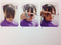 Easy (really!) steps on how to cut your kid's bangs.