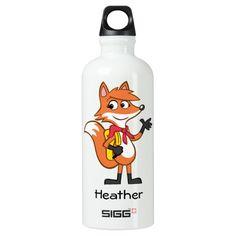 Ranger Rick | Scarlett Fox Waving Aluminum Water Bottle #Ranger #Rick