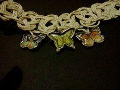 CLEARANCE Hemp celtic knotted butterfly necklace by ItsKnotHard, $10.00