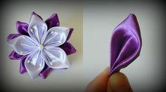 Цветок канзаши Сиреневая нежность