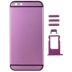 [$22.06] Metal Full Assembly Replacement Housing Cover for iPhone 6, Including Back Cover & Card Tray & Volume Control Key & Power Button & Mute Switch Vibrator Key(Purple)