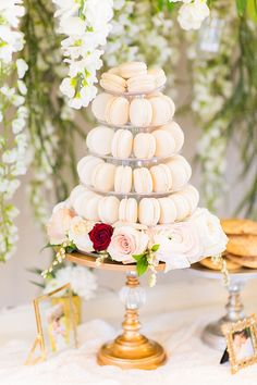 Macaron tower from a