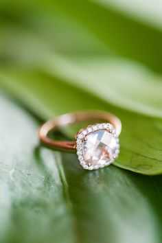 Engagement Ring -- Ooh La La!! See the lucky bride on SMP: http://www.StyleMePretty.com/2014/06/04/smp-blogger-bride-contributor-meet-angela/  Photography: EmilySteffen.com