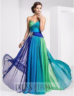 Sweetheart Sheath/Column Floor-length Chiffon Ombre Evening Dresses [ED-28064] - $ 149.99 :