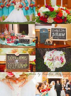 Bright Summer Rustic Wedding Flowers | Arrowhead Golf Club Wedding | Wheaton Wedding Florist