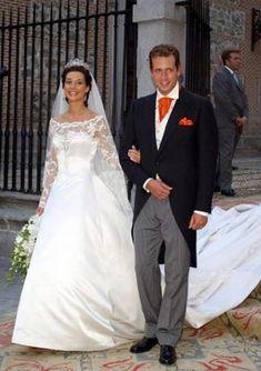atthespanishcourt:  Wedding of Don Bruno Alejandro Gómez-Acebo y Borbón, second son of Infanta Pilar of Spain, and doña Bárbara Cano de la Plaza, October 5, 2002