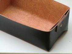DIY-Anleitung: Minimalistische Box aus Leder basteln via DaWanda.com