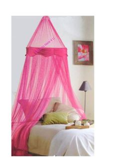 NEW Hot Pink Bed Canopy with Velvet Panel Mosquito Nets 4 U http://www.amazon.co.uk/dp/B007XD47QU/ref=cm_sw_r_pi_dp_shyJwb1BWXSVZ