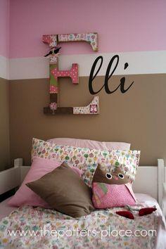 Pinspire - http://decoracion.facilisimo.com/blogs/decoracion-de-paredes/algunas-ideas-para-decorar-con-letras_764159.html#