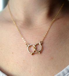 3fc8b75b8 Pretzel Necklace Pretzel Necklace, Jewelery, Jewelry Necklaces, Jewelry  Box, Gold Necklace,
