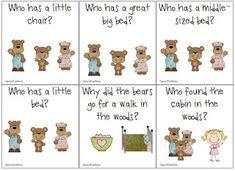 Bears Preschool, Nursery Rhymes Preschool, Nursery Rhyme Theme, Kindergarten Activities, Book Activities, Preschool Activities, Prek Literacy, Fairy Tales Unit, Fairy Tale Theme