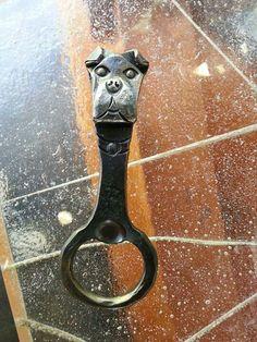 dog head steel forged
