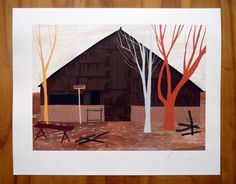 Old Shed in Woods Print 6X8 van robhodgson op Etsy, £15,00