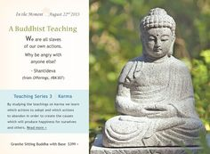 "Buddhist Teaching from Shantideva. From ""Offerings,"" item BK307, dharmacrafts.com. #dharmacrafts"