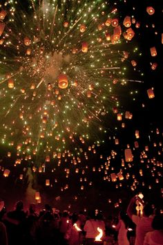 Loi Kratang holiday in Chiang Mai, Thailand- happens in November's full moon!!! SOOOO want to go there