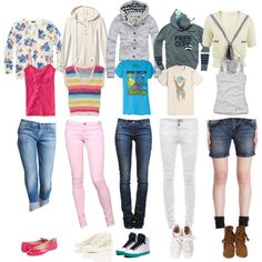 """""""5 simple back to school outfits"""" some of them are a tad preppy for me, but cute!"""