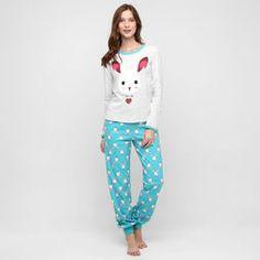 Pijama Censato Coelho - Branco+Azul Piscina
