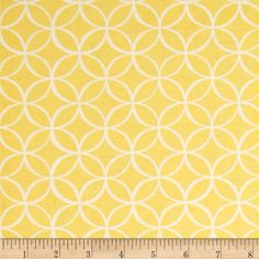 Michael Miller Tile Pile Canary   From Michael Miller, this cotton print is perfect for quilting, apparel and home decor accents.  Colors include yellow and white.