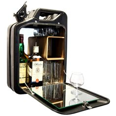 Want to buy the most reliable cabinet bar? Indestructible WW2 era jerry cans.