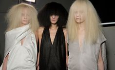 Fashion Week Paris A/W 2013 Rick Owens, fuzzy hair done well. Editorial Hair, Fashion Wallpaper, Wallpaper Magazine, Beauty Makeup, Hair Beauty, Hair Today, Dress Up, Take That, Style Inspiration