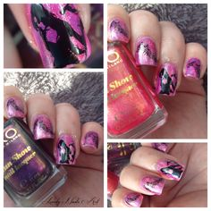 Nail art stamping musique