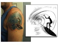 Image result for surfing tattoo