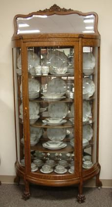 Quartersawn Oak Half Round China Cabinet