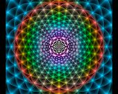 Original Mandala Shambala, Spiritual Art, Psy Art, Visionary Art printed on archival photopaper