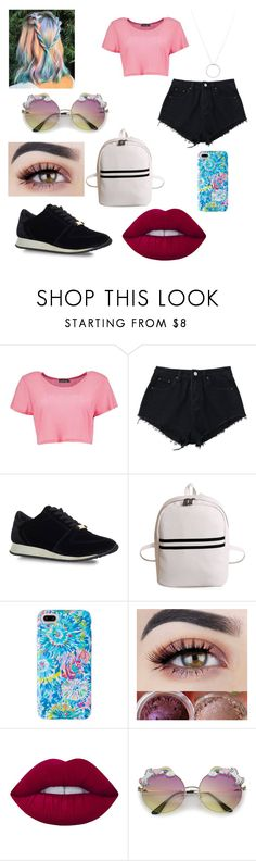 """""""Untitled #206"""" by blancaxrodriguez on Polyvore featuring Boohoo, Carvela Kurt Geiger, Lilly Pulitzer, Lime Crime and Roberto Coin"""