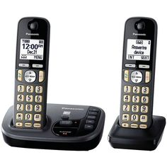 PANASONIC KX-TGD222M Expandable Cordless Phone System with Talking Caller ID (2-handset system)