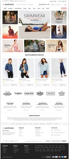 Portmone is powerful 10 in 1 responsive @Magento 2 and 1 Theme for multipurpose #fashion #shopping eCommerce #website with advance theme manager download now➝ https://themeforest.net/item/portmone-multipurpose-responsive-magento-2-and-magento-1-theme/16813973?ref=Datasata