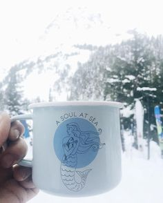 A backcountry essential // Soul at Sea Enamel Mug  Maggie B.  #aksalmonsisters #backcountry #snowcity #getoutside #soulatsea #enamelmug #staywild #ski