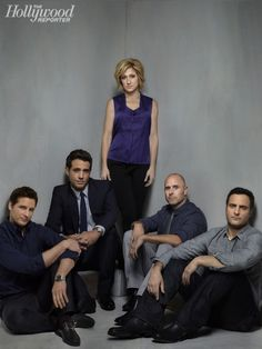 Nurse Jackie cast. Jackie's guys. Coop is the only she hasnt slept with HA!