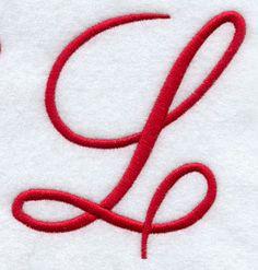 Monogram Script Letter L - 4 Inch. I love a cursive letter L. Cool Lettering, Script Lettering, Typography Letters, Lettering Styles, Monogram Letters, Letters And Numbers, Love Letters, Monogram Fonts, Calligraphy Alphabet