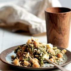 Spinach quinoa with chickpeas