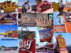 From the famous Neon Boneyard...where old neon signs go to die.