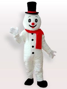 $209.73Short Plush Snow Man With Hat #Adult #Mascot #Costume