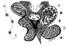 zentangle butterfly - Google Search