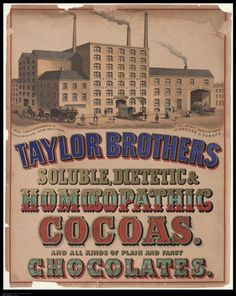 Taylor Brothers Soluble Dietetic & Homeopathic Cocoas | (@ProQuest)  ℞