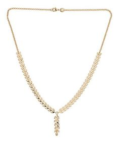 Loving this Gold Leaf Pendant Necklace on #zulily! #zulilyfinds