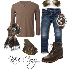 Men's Fall Fashion by keri-cruz on Polyvore featuring Abercrombie & Fitch, Timberland, Bremont, Ray-Ban, L.L.Bean, River Island, men's fashion and menswear