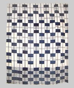 Wrapper Idigo and white Strip woven Woman's cloth  Mid 20th century Ewe, Ghana