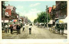 A vintage postcard view of a Street Scene in Jefferson City, Missouri. Description from mygenealogyhound.com. I searched for this on bing.com/images