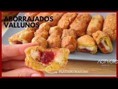 ABORRAJADOS VALLUNOS (Plátanos Maduros rellenos con Queso)  La mejor receta con Plátano Maduro! - YouTube Ripe Plantain, Deli Food, Colombian Food, Banana Recipes, Spanish Food, Sandwiches, Snacks, Meals, Vestidos
