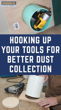 Most woodworking power tools do a poor job of dust collection. Woodworking Power Tools, Woodworking Shop, Shop Dust Collection, Dust Removal, Wood Source, Dust Collector, Garage Shop, Wood Ideas, Lungs