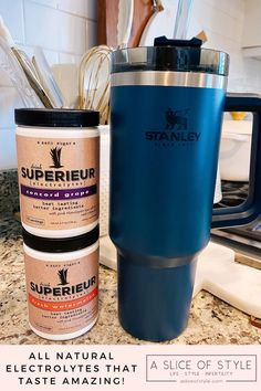 Epstein-Barr Virus by popular Utah lifestyle blog, A Slice of Style: image of a Stanley ADVENTURE QUENCHER TRAVEL TUMBLER and Superieur electrolytes. Stanley Adventure, Natural Electrolytes, Energy Smoothies, Celery Juice, Eating Organic, Dna Test, Fruits And Veggies, Feel Better, Smoothie Recipes