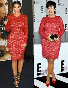 Who wore it best? Kim Kardashian and Kris Jenner were spotted in the same $3,690 Valentino dress!